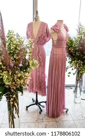 New York, NY - September 10, 2018: Designer J. Mendel presents new collection during New York Fashion week Spring/Summer 2019 at Standard East Village Penthouse