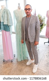 New York, NY - September 10, 2018: Designer J. Mendel attends presentation of his new collection during New York Fashion week Spring/Summer 2019 at Standard East Village Penthouse