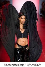 NEW YORK, NY - September 11, 2018: Teyana Taylor walks the runway at the Namilia Spring Summer 2019 fashion show during New York Fashion Week