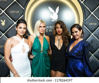 New York, NY - September 12, 2018: Raquel Pomplun, Brandy Roderick, Nina Daniele, Tiffany Fallon attend Playboy Club New York Opening Party on 42nd street