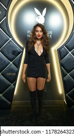 New York, NY - September 12, 2018: Playmate Nina Daniele attends Playboy Club New York Opening Party on 42nd street