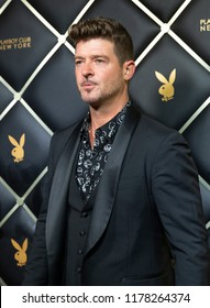 New York, NY - September 12, 2018: Robin Thicke attends Playboy Club New York Opening Party on 42nd street