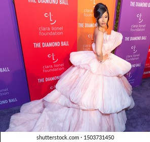 New York, NY - September 12, 2019: Cardi B (Belcalis Almanzar) attends 5th Annual Diamond Ball benefiting the Clara Lionel Foundation at Cipriani Wall Street
