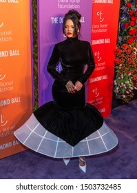 New York, NY - September 12, 2019: Rihanna attends 5th Annual Diamond Ball benefiting the Clara Lionel Foundation at Cipriani Wall Street