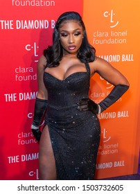New York, NY - September 12, 2019: Megan Thee Stallion attends 5th Annual Diamond Ball benefiting the Clara Lionel Foundation at Cipriani Wall Street