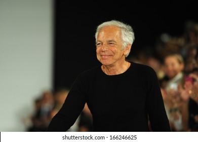 NEW YORK, NY - SEPTEMBER 12: Designer ralph Lauren walks the runway at the Ralph Lauren fashion show during Mercedes-Benz Fashion Week Spring 2014 on September 12, 2013 in New York City.
