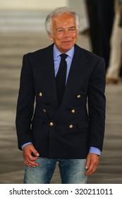NEW YORK, NY - SEPTEMBER 17: Ralph Lauren walks the runway at Ralph Lauren Spring 2016 during New York Fashion Week: The Shows at Skylight Clarkson Sq on September 17, 2015 in New York City.