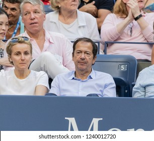New York, NY - September 2, 2018: John Paulson attends Rafael Nadal and Serena Williams matches on day 7 of the 2018 tennis US Open on Arthur Ashe stadium