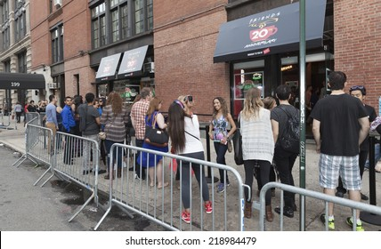 New York, NY - September 21, 2014: Fans Of Warner Bros TV Comedy Friends Celebrate 20th Anniversary Of Series Premiere at The Central Perk cafe on Lafayette street sponsored by Eight O'Clock coffee