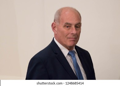 NEW YORK, NY - SEPTEMBER 26, 2018: John Kelly, the White House Chief of Staff attends a press conference held by President Donald Trump at the NY Lotte Palace Hotel.
