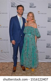NEW YORK, NY - SEPTEMBER 26: Justin Rockefeller and Indre Rockefeller attend the 8th Annual New York City Ballet Fall Fashion Gala at Lincoln Center on September 26, 2019 in New York City.