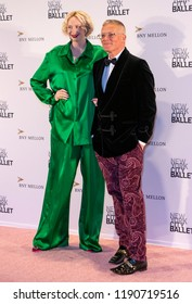 New York, NY - September 27, 2018: Gwendoline Christie and Giles Deacon attend New York City Ballet 2018 Fall Fashion Gala at David H. Koch Theater at Lincoln Center
