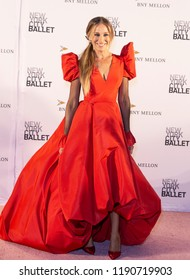New York, NY - September 27, 2018: Sarah Jessica Parker attends New York City Ballet 2018 Fall Fashion Gala at David H. Koch Theater at Lincoln Center