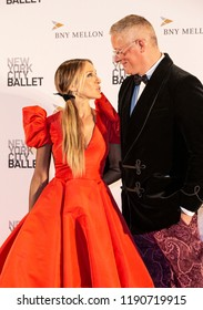 New York, NY - September 27, 2018: Sarah Jessica Parker and Giles Deacon attends New York City Ballet 2018 Fall Fashion Gala at David H. Koch Theater at Lincoln Center