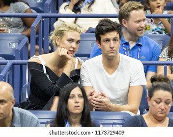 New York, NY - September 6, 2018: Karlie Kloss & Josh Kushner attend US Open 2018 semifinal match between Serena Williams of USA  & Anastasija Sevastova of Latvia at USTA National Tennis Center