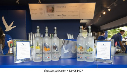 New York, NY - September 6, 2015: Atmosphere at Grey Goose bar at USTA Billie Jean King Tennis Center at US Open Championship
