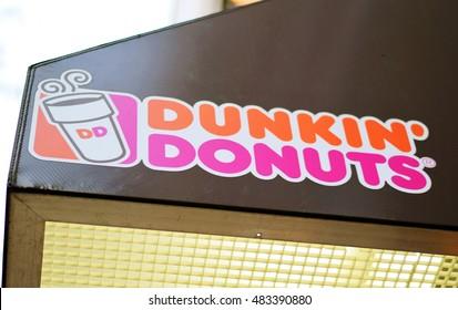 NEW YORK, NY - SEPTEMBER 9th, 2016: Dunkin' Donuts location in Upper East Side, Manhattan