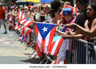 New York, NY: Thousands of people participated at the annual Puerto Rican Parade along Fifth Avenue in New York City on June 9, 2019.