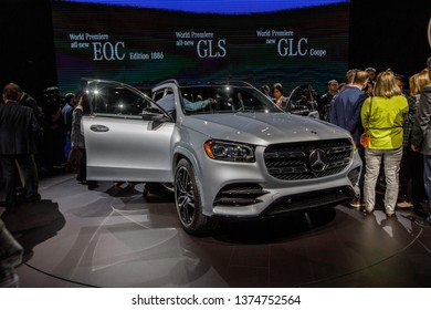 New York, NY / USA - 04 17 2019: International New York Auto Show 2019, Jacob Javits center