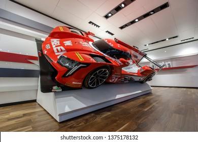 New York, NY / USA - 04 17 2019: International New York Auto Show 2019, Jacob Javits center, Cadillac NASCAR supercar