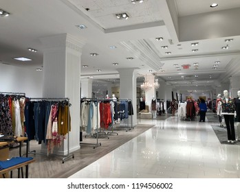 New York, NY/ USA: 10-03-18- New York Lord & Taylor Store Fashion Shopping Merchandise Floor