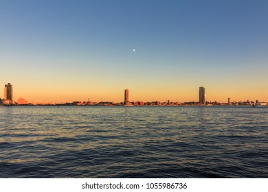 NEW YORK, NY / USA - 10/1/2017: View of Long Island City from East River Side