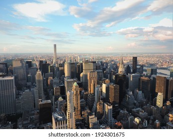 New York, NY, USA - 8-9-2015: Pcture of the New York skyline from the Empire State Building