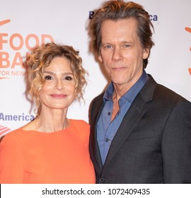 New York, NY, USA - April 17, 2018: Kyra Sedgwick and Kevin Bacon attend the Food Bank for New York City's Can Do Awards Dinner at Cipriani Wall Street, Manhattan