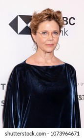 New York, NY, USA - April 21, 2018: Annette Bening attends The Seagull premiere during the 2018 Tribeca Film Festival at BMCC Tribeca PAC, Manhattan