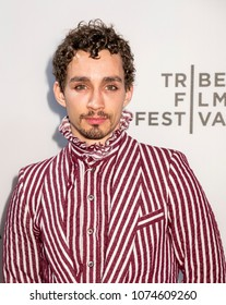 New York, NY, USA - April 20, 2018: Robert Sheehan attends screening of 'Genius: Picasso' during the 2018 Tribeca Film Festival at BMCC Tribeca PAC, Manhattan