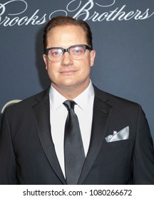 New York, NY, USA - April 25, 2018: Brendan Fraser attends the Brooks Brothers Bicentennial Celebration at Jazz At Lincoln Center, Manhattan
