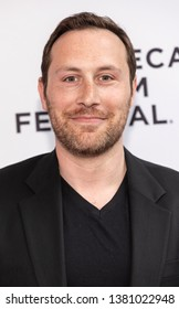 """New York, NY, USA - April 25, 2019: Mike Carlson attends the """"Standing Up, Falling Down"""" premiere during 2019 Tribeca Film Festival at SVA Theater, Manhattan"""
