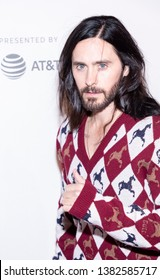 """New York, NY, USA - April 27, 2019: Jared Leto attends """"A Day In The Life Of America"""" premiere during 2019 Tribeca Film Festival at The Stella Artois Theatre, Manhattan"""