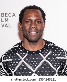 """New York, NY, USA - April 28, 2019: Gbenga Akinnagbe attends """"Luce"""" premiere during 2019 Tribeca Film Festival at The Stella Artois Theatre, Manhattan"""