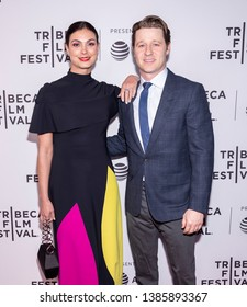 """New York, NY, USA - April 30, 2019: Morena Baccarin and Ben Mckenzie attend premiere of """"Framing John DeLorean"""" during 2019 Tribeca Film Festival at SVA Theater, Manhattan"""