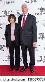 """New York, NY, USA - April 30, 2019:  Lt. Col. Nancy Jaax and Lt. Colonel Jerry Jaax attend National Geographic's premiere of """"The Hot Zone"""" during 2019 Tribeca Film Festival at SVA Theater, Manhattan"""