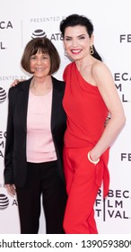 """New York, NY, USA - April 30, 2019: Lt. Col. Nancy Jaax and Julianna Margulies attend National Geographic's premiere of """"The Hot Zone"""" during 2019 Tribeca Film Festival at SVA Theater, Manhattan"""