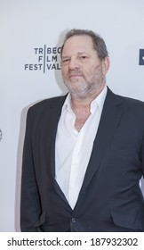 New York, NY, USA - April 17, 2014: Producer Harvey Weinstein attends the 'Dior and I' premiere during the 2014 Tribeca Film Festival at SVA Theater, Manhattan