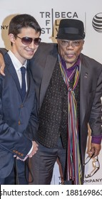 New York, NY, USA - April 19, 2014: (L) Justin Kauflin and Quincy Jones attend the premiere of 'Keep On Keepin' On' during the 2014 Tribeca Film Festival at BMCC Tribeca PAC, Manhattan