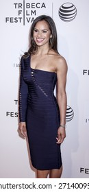 New York, NY, USA - April 19, 2015: Ballet dancer Misty Copeland attends the premiere of 'A Ballerina's Tale' during the 2015 Tribeca Film Festival at BMCC Tribeca PAC, Manhattan