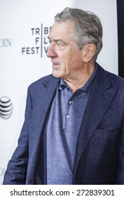 New York, NY, USA - April 25, 2015: Robert De Niro attends 2015 Tribeca Film Festival closing night, 25th anniversary of Goodfellas, co-sponsored by Infor and Roberto Coin  at Beacon Theatre