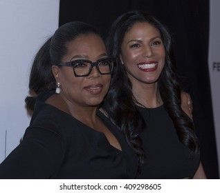 New York, NY USA - April 20, 2016: Oprah Winfrey and Merle Dandridge attends premiere of Greenleaf series during Tribeca Film Festival at BMCC