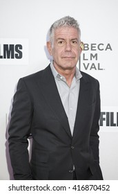 New York, NY, USA - April 16, 2016: Anthony Bourdain attends the premiere of 'Jeremiah Tower: The Last Magnificent' during 2016 Tribeca Film Festival at the John Zuccotti Theater at BMCC Tribeca PAC