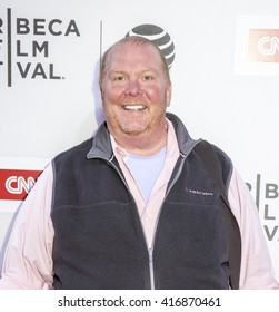 New York, NY, USA - April 16, 2016: Chef Mario Batali attends the premiere of 'Jeremiah Tower: The Last Magnificent' during 2016 Tribeca Film Festival at the John Zuccotti Theater at BMCC Tribeca PAC