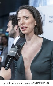 NEW YORK, NY , USA - APRIL 22: Actress Rebecca Hall attends World Premiere â??Permissionâ?? during the 2017 Tribeca Film Festival at SVA Theater, Manhattan