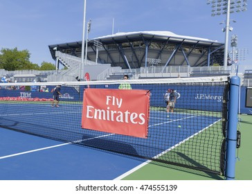 New York, NY USA - August 27, 2016: Atmosphere at Arthur Ash Kids day 2016 at US Open tennis championship sponsored by Hess and Emirates airline