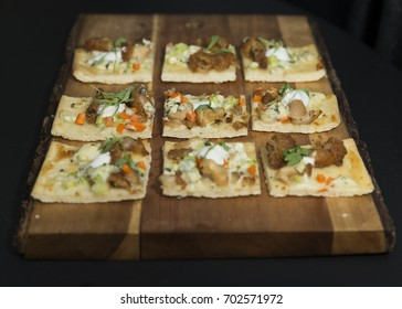 New York, NY USA - August 24, 2017: Hors d'oeuvres prepared by chef Jacques Sorci on display during Lotte New York Palace 2017 Invitation Badminton Tournament