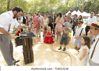 New York, NY USA - August 26, 2017: Atmosphere at Annual Jazz Age Lawn Party on Governors Island presented by Michael Arenella and Dreamland orchestra