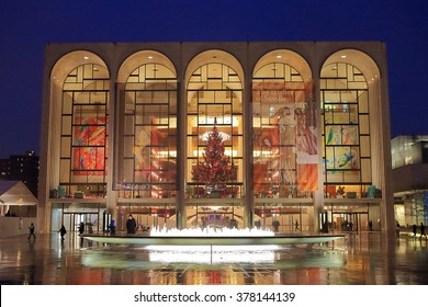 NEW YORK, NY, USA- DEC 7: Lincoln Center in Christmas Season, Dec 7, 2012