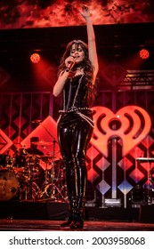 New York, NY, USA - December 13, 2019:  Camila Cabello performs at the 2019 Z100 Jingle Ball at Madison Square Garden.
